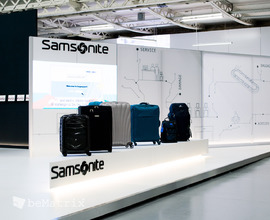 LEDskin® integrated in Samsonite stand @ FTE Dublin