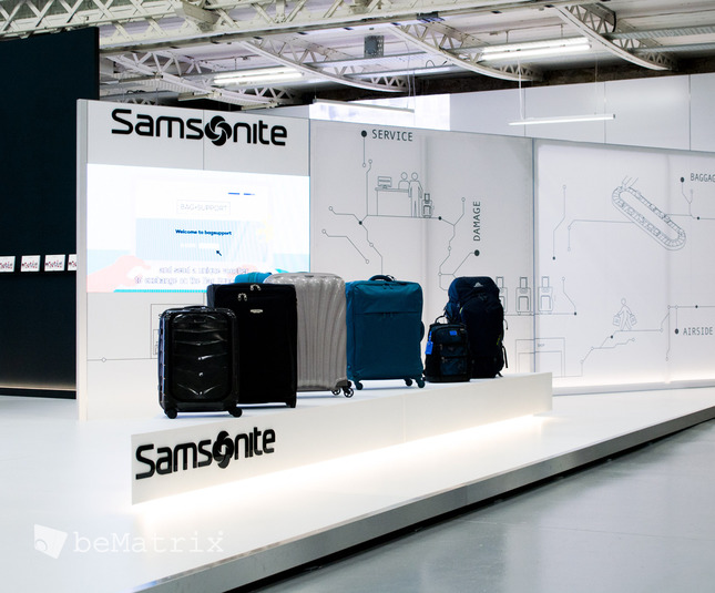 LEDskin® integrated in Samsonite stand @ FTE Dublin - Foto 0