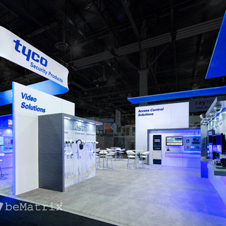 Hamilton Exhibits incorporates 360° concept in stand from Tyco